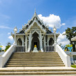 Buddhist temple white dragon in Krabi Thailand — Foto Stock