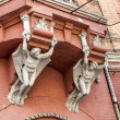 Facade of an old residential building in Kiev, Art Nouveau — Stock Photo
