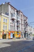 Antiguas calles de la casa en el centro de kiev — Foto de Stock