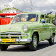 Vintage RussiSoviet retro passenger legendary car on streets of Moscow — 图库照片 #36201199