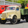 Photo: Retro cars. Soviet vintage freight cars of 50 years for urbemergency services in Moscow.