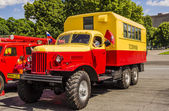 Retro cars. Soviet vintage freight cars of 50 years for urban emergency services in Moscow. — Stock Photo