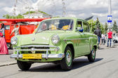 Vintage Russian Soviet retro passenger legendary car on the streets of Moscow — Foto de Stock