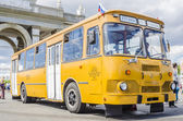Old Soviet bus at the exhibition of rare transport in Moscow — Foto de Stock