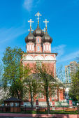 Ancient Orthodox Church in the historic center of Moscow — Stock Photo