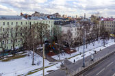 View from the bird's-eye view of Moscow winter — Stock Photo