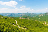 View of the Balkan Mountains in the summer in Montenegro — Stock Photo