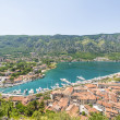 View of the old town of Kotor on. Red tiled roofs and bay south fjord — Stock Photo #51555087