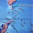 Map in Ushuaia — 图库照片