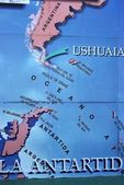 Map in Ushuaia — Stock Photo