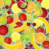 Set of fruits. Vector illustration. — Stock Vector