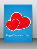 Valentine's Day card. Vector illustration. — Stock Vector