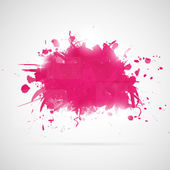 Abstract background with pink paint splashes. — Stock Vector