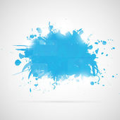 Abstract background with blue paint splashes. — Stock Vector