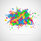 Abstract background with paint splashes. — Stock Vector