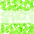 Background with fresh green leaves — Stock Vector