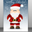 Christmas Greeting Card with Santa. — Stock Vector