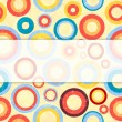 Retro background with circles. — Stock Vector