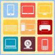 Stock Vector: Vintage web icons