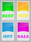 Set of colorful labels — Stock Vector
