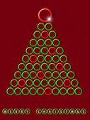 Creative christmas background. — Stock Vector