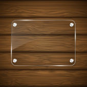 Wooden texture with glass. — Stock Vector