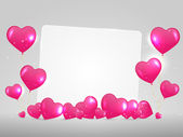 White paper with hearts. — Stock Vector