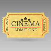 Vintage admit one ticket. — Stockvektor