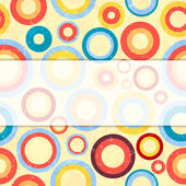 Retro background with circles. — Stockvektor