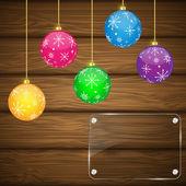 Christmas background. — Vector de stock
