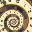 Infinity time with vintage clock. Digital generated — Stock Photo