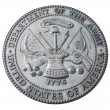 US Army commemorative plaque — Stock Photo