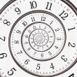 Stockfoto: Abstract clock to infinity