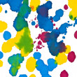 Colored ink splashes — Foto de Stock