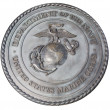 Stock Photo: US Marine Corps commemorative plaque in Washington DC