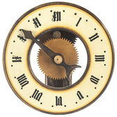 Vintage single arm hand made Clock — Stock Photo