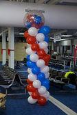 Versierd met ballonnen — Stockfoto