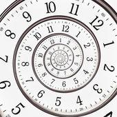 抽象时钟到无穷远 — 图库照片