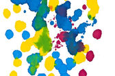 Colored ink splashes — Stock Photo