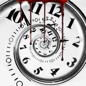Doden van tijd met bloed druipt — Stockfoto