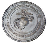 Nos marines placa conmemorativa en washington dc — Foto de Stock
