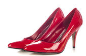 Red high heel women shoes on white background — Stock Photo