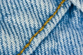 Seams on the denim texture — Stock Photo