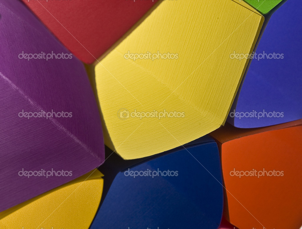 Colored paper background shaped like flower — Stock Photo #14584457
