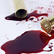 Blood and crime scene concept on white — Stok fotoğraf