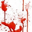 Dripping blood splatters — 图库照片