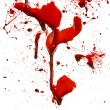 Dripping blood splatters — ストック写真