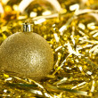 Golden Christmas decorations — Stock Photo #14761061