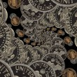 Old silver dimes — Stock Photo