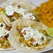 Fish tacos close up — Stock Photo